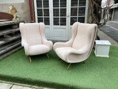 Set of four Senior armchairs by Marco Zanuso for Arflex
