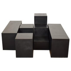 Set of Four Side Tables Gli Scacchi by Mario Bellini for B&B Italia