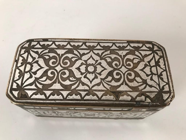 Set of Four Silver and Bronze Inlaid Betel Nut Boxes For Sale 4