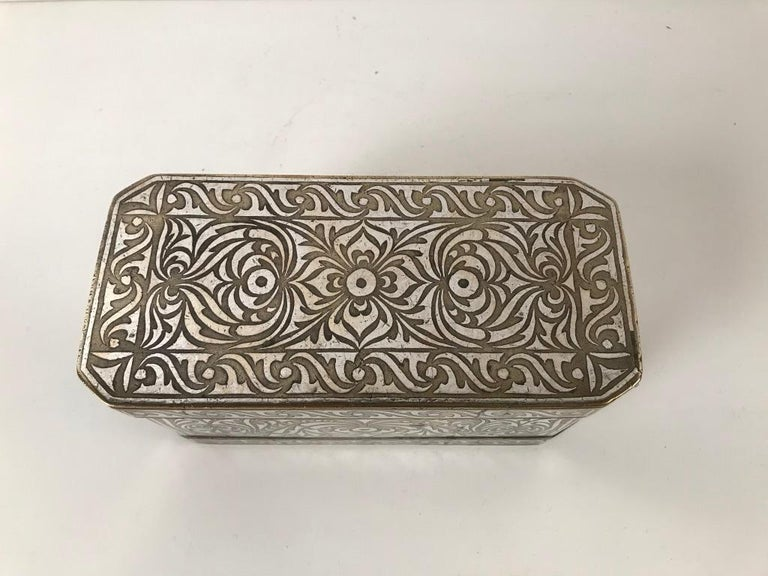 Set of Four Silver and Bronze Inlaid Betel Nut Boxes For Sale 1