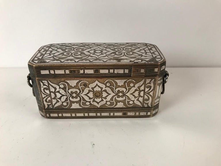 Set of Four Silver and Bronze Inlaid Betel Nut Boxes For Sale 2