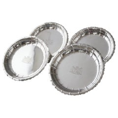 Set of Four Silver Strawberry or Serving Dishes, London 1835 by Robert Garrard