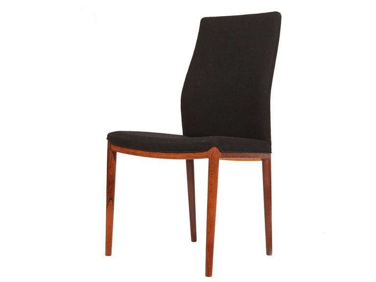 Scandinavian Modern Set of Four Slender Chairs by Vestergaard Jensen For Sale