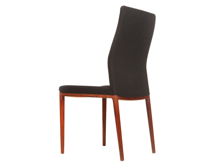 Set of Four Slender Chairs by Vestergaard Jensen In Excellent Condition For Sale In New York, NY