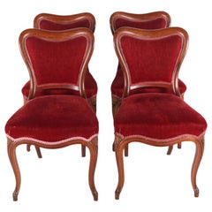 Set of Four Solid Mahogany Chairs, circa 1880