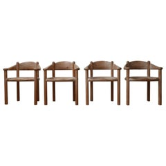 Set of Four Solid Pine Dining Chairs by Rainer Daumiller '4'