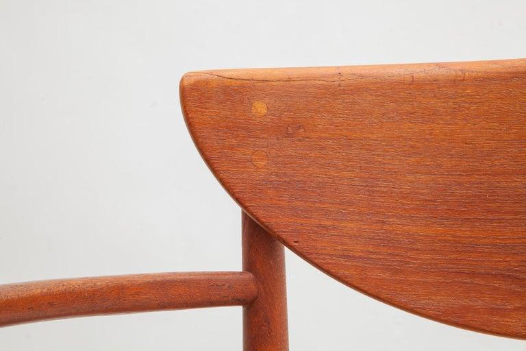 Scandinavian Modern Set of Four Solid Teak Armchairs by Peter Hvidt, Orla Mølgaard-Nielsen, Denmark For Sale