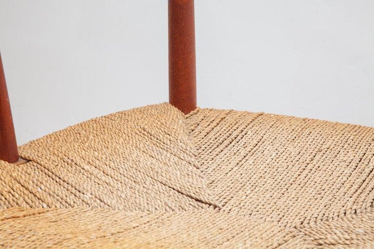 Danish Set of Four Solid Teak Armchairs by Peter Hvidt, Orla Mølgaard-Nielsen, Denmark For Sale