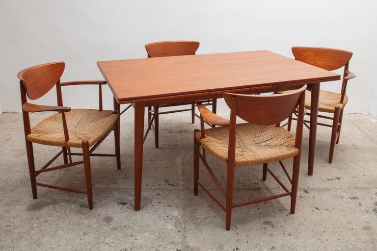 Set of Four Solid Teak Armchairs by Peter Hvidt, Orla Mølgaard-Nielsen, Denmark In Good Condition For Sale In Antwerp, BE