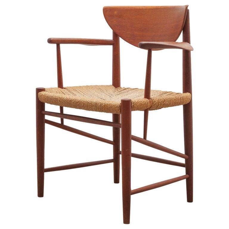 Set of Four Solid Teak Armchairs by Peter Hvidt, Orla Mølgaard-Nielsen, Denmark For Sale