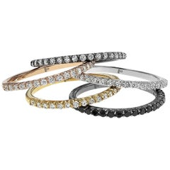 Set of Four Stackable Diamond Rings