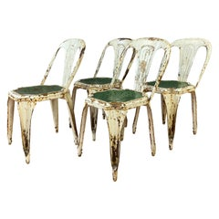 Set of Four Stackable Industrial Bistro Chairs by Fibrocit of Belgium