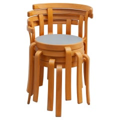 """Set of Four Stacking Chairs Designed by Magnus Olesen """"8000 Series"""""""