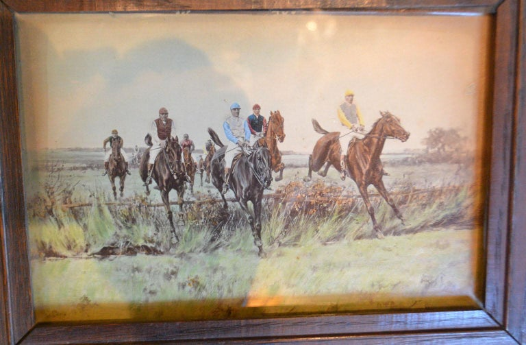 20th Century Set of Four Steeplechase Prints by Thomas Blinks For Sale