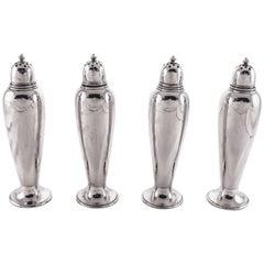 Set of Four Sterling Salt/Pepper Shakers