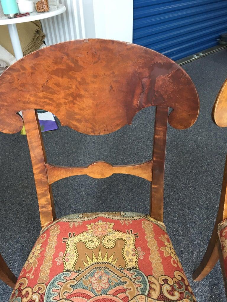Set of Four Swedish Biedermeier Side Chairs For Sale 5