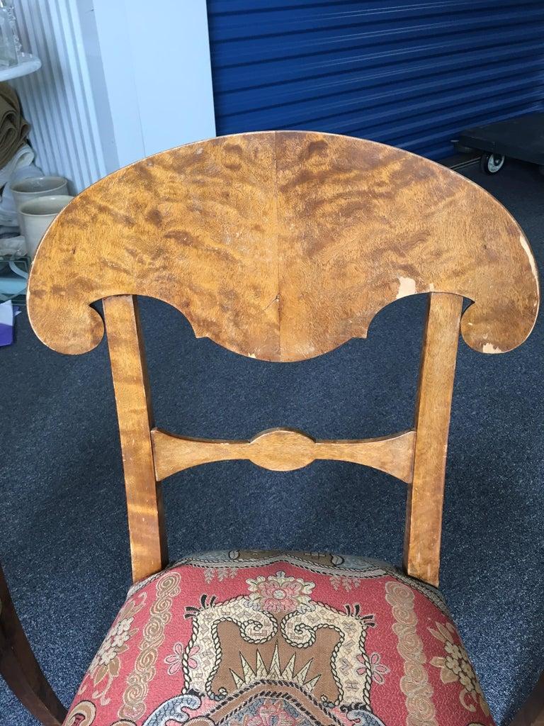 Set of Four Swedish Biedermeier Side Chairs For Sale 6