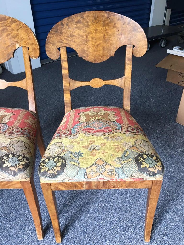 Set of Four Swedish Biedermeier Side Chairs For Sale 7