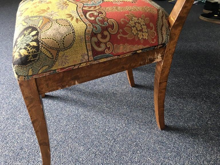 Set of Four Swedish Biedermeier Side Chairs For Sale 8