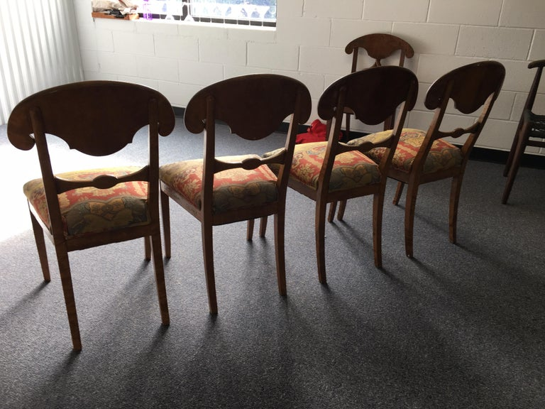 Set of Four Swedish Biedermeier Side Chairs For Sale 10