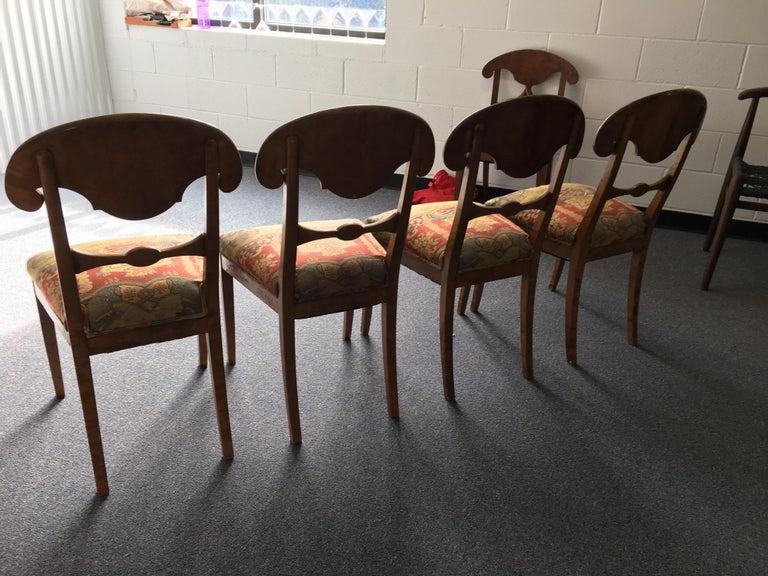 Set of Four Swedish Biedermeier Side Chairs For Sale 11