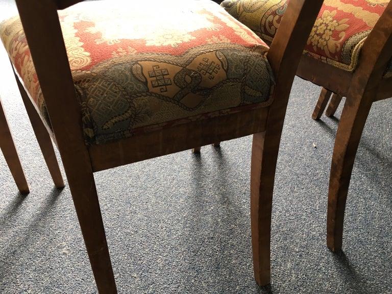 Set of Four Swedish Biedermeier Side Chairs For Sale 12