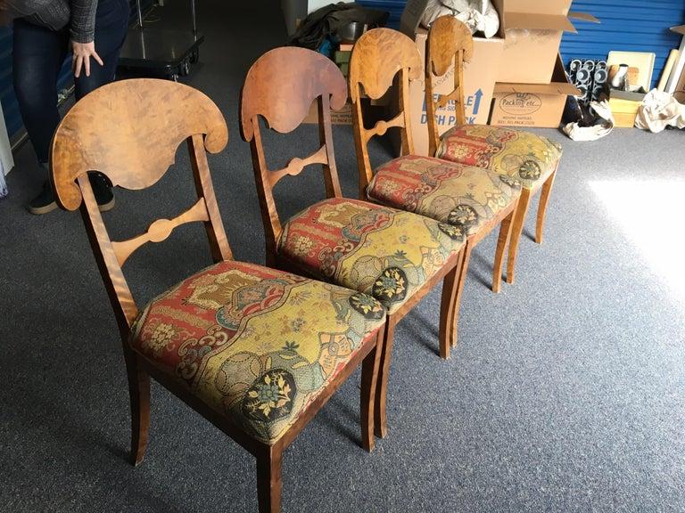 Set of Four Swedish Biedermeier Side Chairs For Sale 13