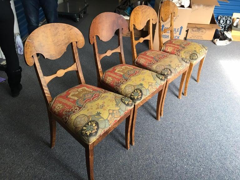 Set of Four Swedish Biedermeier Side Chairs For Sale 14