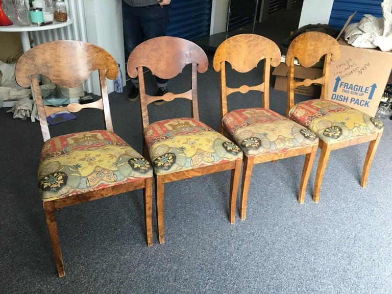Set of Four Swedish Biedermeier Side Chairs For Sale 15