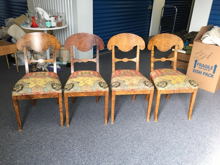 Set of Four Swedish Biedermeier Side Chairs For Sale 1