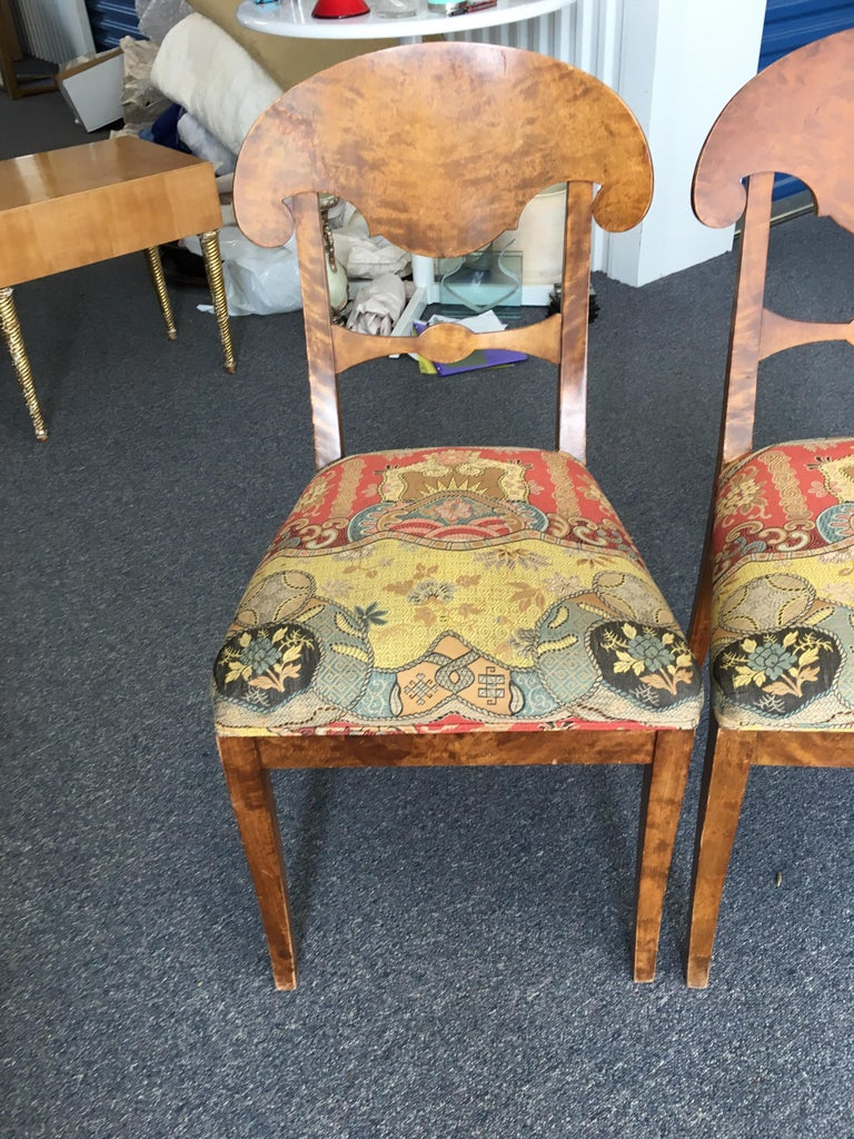 Set of Four Swedish Biedermeier Side Chairs For Sale 3