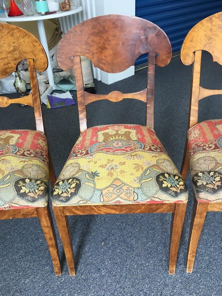 Set of Four Swedish Biedermeier Side Chairs For Sale 4