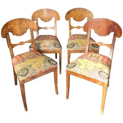 Set of Four Swedish Biedermeier Side Chairs