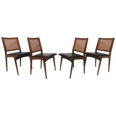 Set of Four Swedish Dining Chairs in the Style of Carlo de Carli, circa 1960s