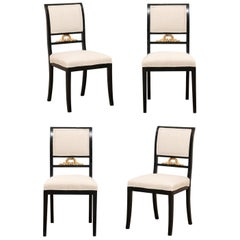 Set of Four Swedish Empire Side Chairs by F. Pettersson