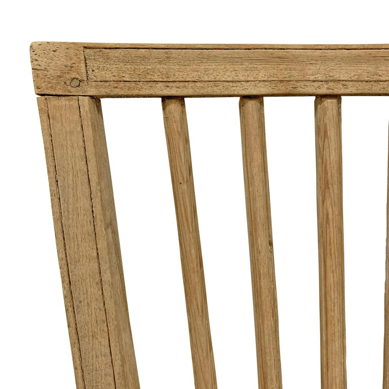 Set of Four Swedish Gustavian Pine Dining Chairs For Sale 2