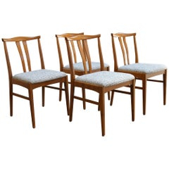 Set of Four Swedish Midcentury Dining Chairs