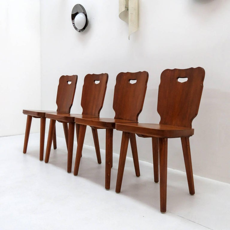 Set of Four Swedish Pine Chairs, 1890 For Sale 5