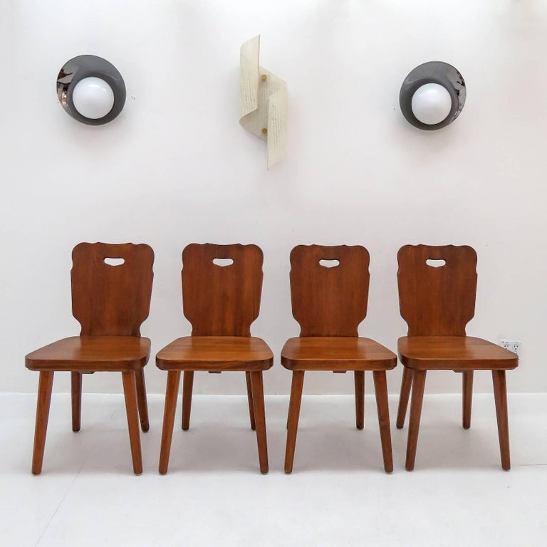 Set of Four Swedish Pine Chairs, 1890 For Sale 4