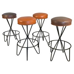 Set of Four Swivel Barstools by Paul Tuttle
