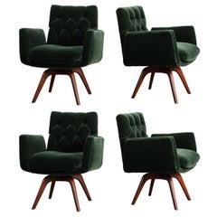 Set of Four Swivel Chairs by Vladimir Kagan