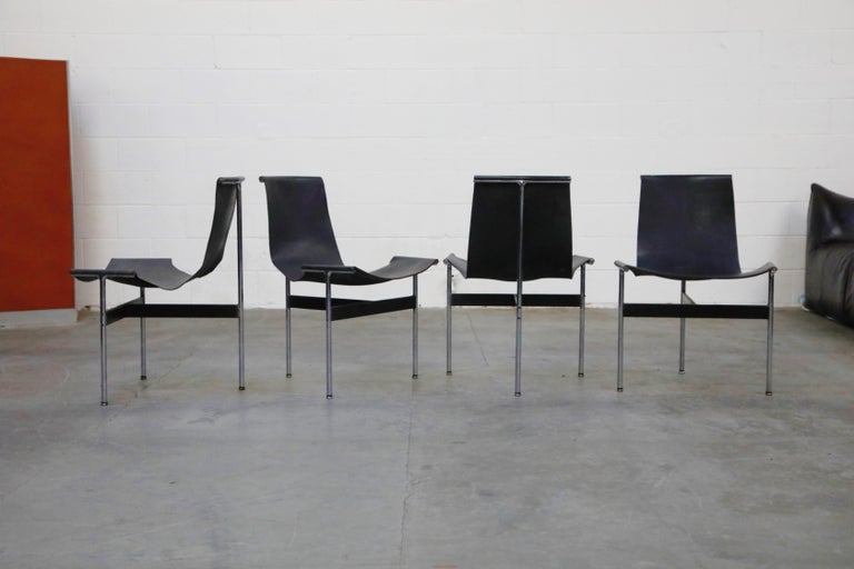 Steel Set of Four T-Chairs by Katavolos, Littell and Kelly for Laverne International For Sale