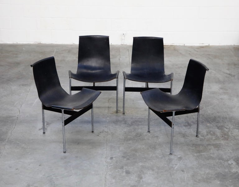 Set of Four T-Chairs by Katavolos, Littell and Kelly for Laverne International For Sale 1
