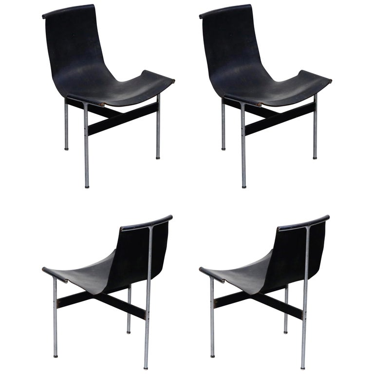 Set of Four T-Chairs by Katavolos, Littell and Kelly for Laverne International For Sale