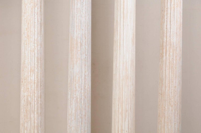 Set of Four 10.5 Ft. Tall Mid-20th Century Greek Doric Style Fluted Columns In Good Condition For Sale In Atlanta, GA