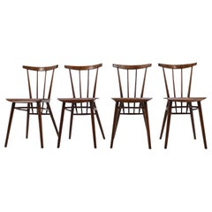 Set of Four Tatra Dining Chairs, Czechoslovakia, 1960