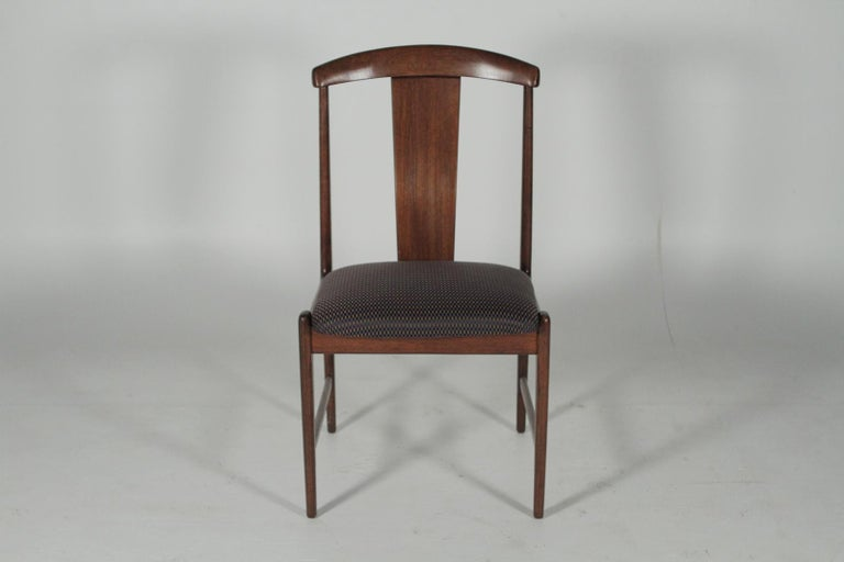 Set of four midcentury teak dining room chairs, 1950s, by Folke Ohlsson for DUX.