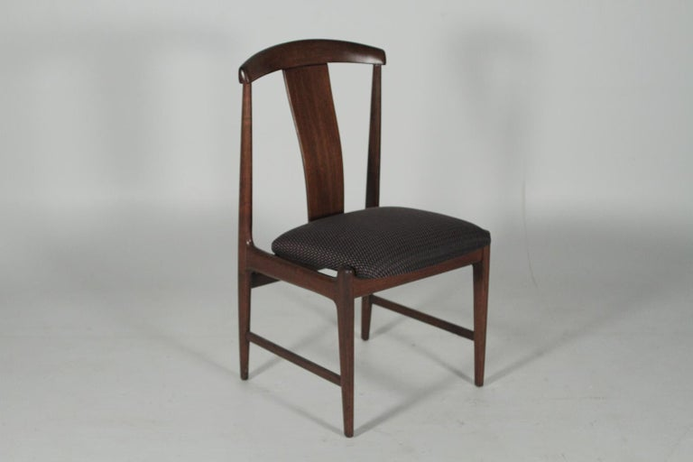 Scandinavian Modern Set of Four Teak Dining Chairs by Folke Ohlsson for DUX, 1950s For Sale