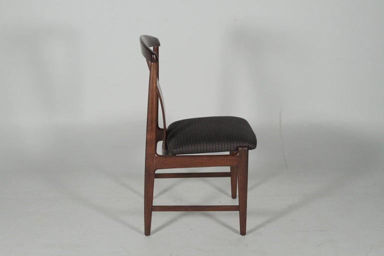 Swedish Set of Four Teak Dining Chairs by Folke Ohlsson for DUX, 1950s For Sale