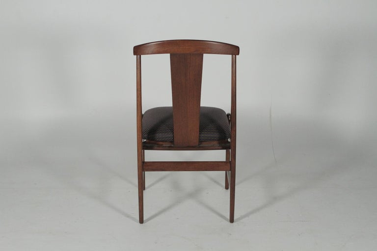 Set of Four Teak Dining Chairs by Folke Ohlsson for DUX, 1950s In Good Condition For Sale In Lambertville, NJ